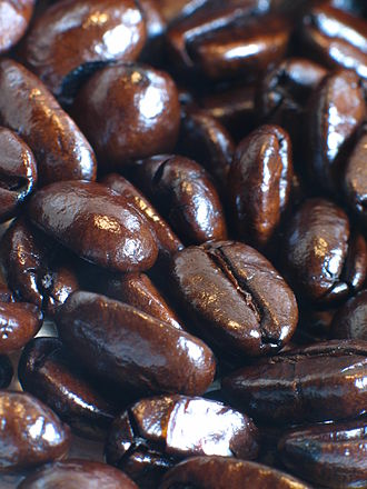 International Coffee Day - Roasted coffee beans.