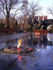 Eternal Flame World War II monument. Almaty, Kazakhstan