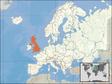Storbritanniens beliggenhed i Europa