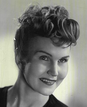 Eve McVeagh - McVeagh publicity photo for Snafu on Broadway (1945)