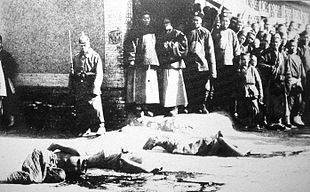 Decapitazioni di Boxer a Hsi-Kou nel 1901 da parte dell'esercito cinese.