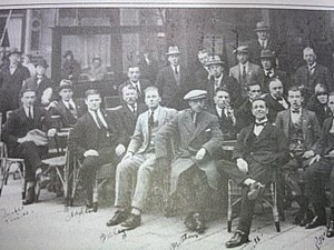 History of Exeter City F.C. - Exeter City relaxing in an Amsterdam café before their match with Ajax in 1925