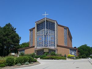 Holy Rosary Church, Guelph - Image: Exterior of Holy Rosary Church, Guelph
