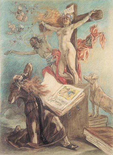 Fichier: Félicien Rops - La Tentation de saint Antoine.jpg
