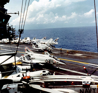 VF-191 - F-4J on the USS Coral Sea in 1977