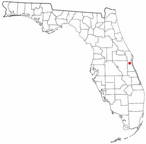 Viera, Florida - Image: FL Map doton Viera
