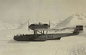 Dornier Do J - N-24 landed on the ice at New Ålesund