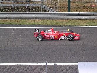2004 Italian Grand Prix - Michael Schumacher finished second, driving for Ferrari.