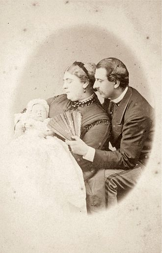 Mary of Teck - As an infant with her parents