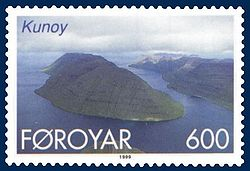 Stamp FR 352 of Postverk Føroya (issued: 25 May 1999; photo: Per á Hædd)