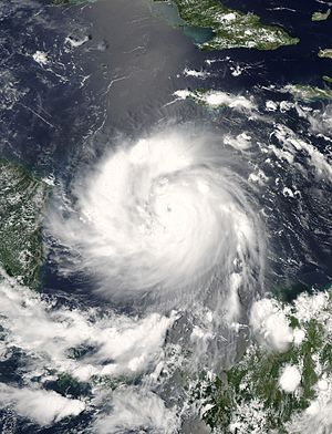 Hurricane Felix - Hurricane Felix in the western Caribbean Sea nearing Central America on September 3