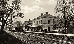 Fellingsbro railway station in the 1930s.