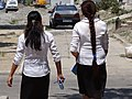 Female Students on Street - Fergana - Uzbekistan (7535889780).jpg