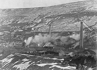 Ferndale Colliery in the snow