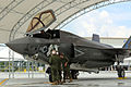 First F-35B Lightning II arrives at MCAS Beaufort 140717-M-UU619-811.jpg