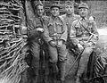 First World War, smile, walking cane, telescope, uniform, men, soldier, tableau Fortepan 26054.jpg