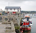 Fishing boats moored on the quay at Amble - geograph.org.uk - 1366405.jpg