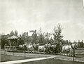 Five teams of horses fulling a float for the Sweet Pea Carnival on Campus.jpg