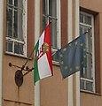 Flags, III. Béla gimnázium. Szent Imre tér, HU-BK-Baja010.jpg