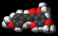 Flavokavain A molecule spacefill.png