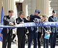 Flickr - Official U.S. Navy Imagery - ASN Garcia cuts ribbon in Yale..jpg