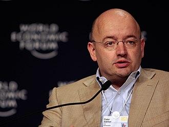 Peter Bakker - Peter Bakker at a Press Conference in 2008