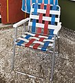 Folding chair at a beach house, Auckland - 0999 (cropped).jpg