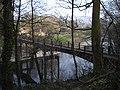 Footbridge across the Taff at Gwaelod-y-garth - geograph.org.uk - 2329470.jpg