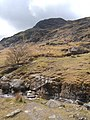 Footbridge looking to part of southern ridge of Wetherlam - geograph.org.uk - 785030.jpg