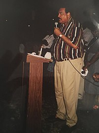 Former Prime Minister Honourable Lester B. Bird speak to the audience.jpg