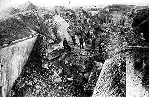 Fort de Loncin - The destroyed fort