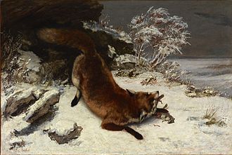 Dallas Museum of Art - Gustave Courbet, Fox In The Snow, 1860, Dallas Museum of Art