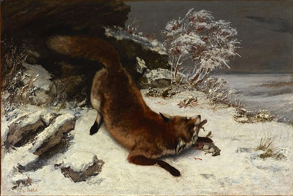 Gustave Courbet, Fox in the Snow, 1860 Fox In The Snow - Courbet (1860).JPG