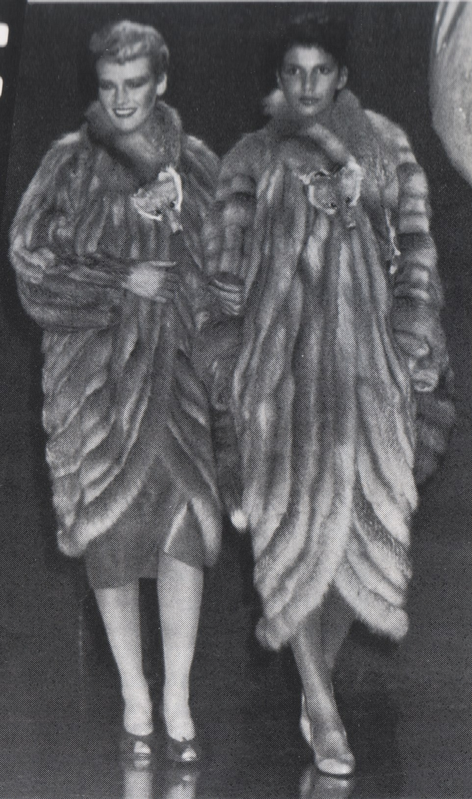 Fox coats, Germany, 1979