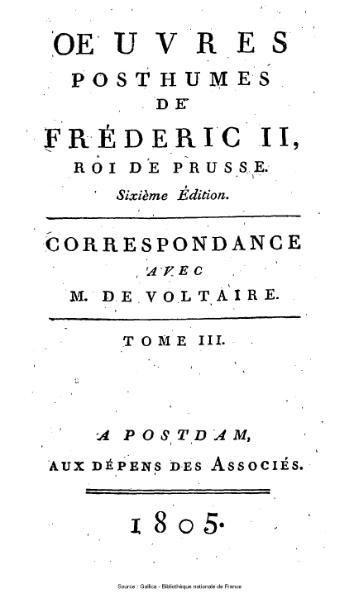 File:Frédéric II de Prusse - Correspondance avec Voltaire, tome 3.djvu