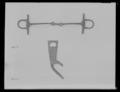 Fragment till stångbett av förtent stål, 15 - 1600-tal - Livrustkammaren - 36551.tif