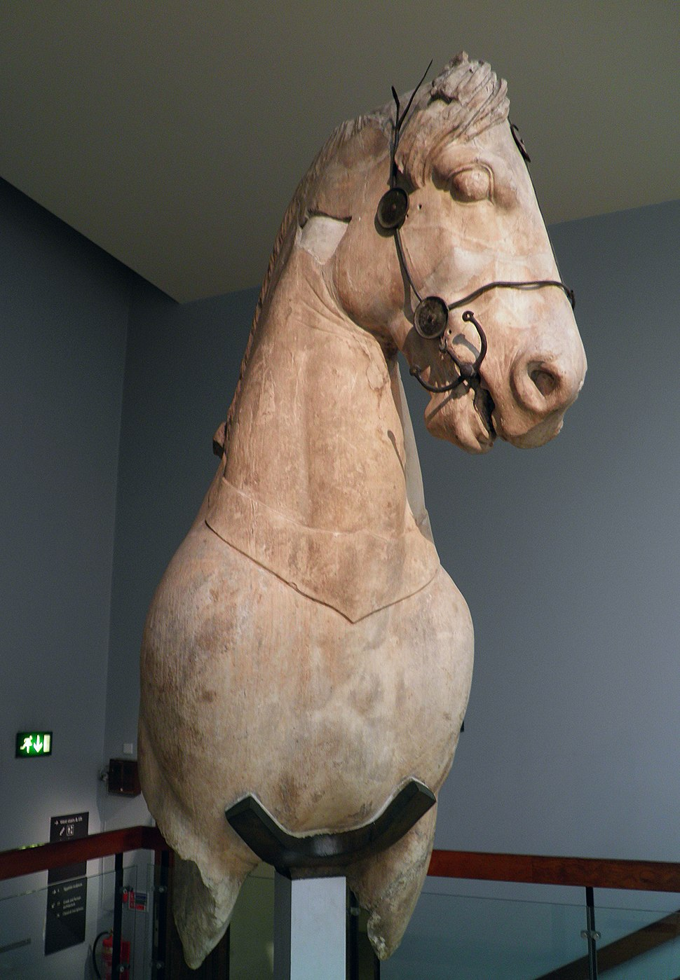 Fragmentary horse from the colossal four-horses chariot group which topped the podium of the Mausoleum at Halicarnassus, Mausoleum at Halicarnassus, British Museum (8245662728)