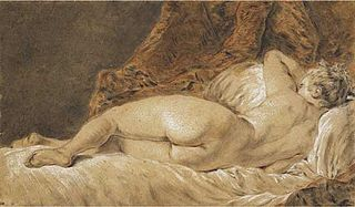 Recumbent woman seen from behind, or Le Sommeil