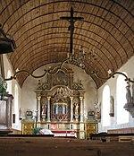 Vue intérieure de l'église Saint-Jean-Baptiste.