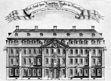 Frankfurt Am Main-Zeil-Gasthaus zum Roemischen Kaiser-Gastkarte-um 1770.jpg