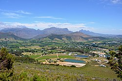 Franschhoek viewing direction west