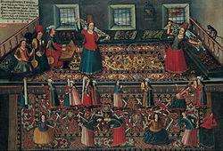 A Scene from the Turkish Harem