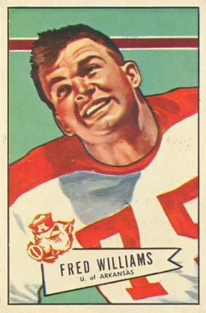 Fred Williams (defensive lineman) - Williams on a 1952 Bowman football card