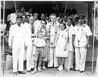 Yanaon - French Commissaire and Madimchetty, Mayor of Yanam in 1940s