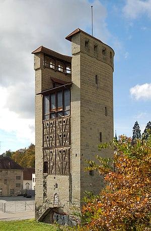 Half tower - Half tower in the town walls of Freiburg im Üechtland