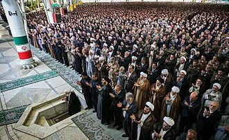 Jumu'ah - Friday prayer in University of Tehran, Iran.