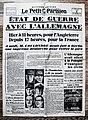 "Frontpage French newspaper ""Le Petit Parisien"" September 4 1939.jpg"