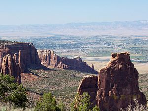 Fruita, Colorado - View of Fruita from the Colorado National Monument