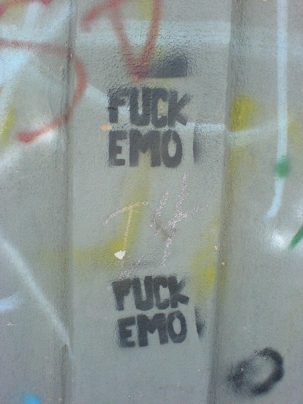 Fuck Emo graffiti
