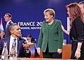 G-20 Cannes 2011 - Barack Obama, Angela Merkel and Cristina Fernández de Kirchner.jpg